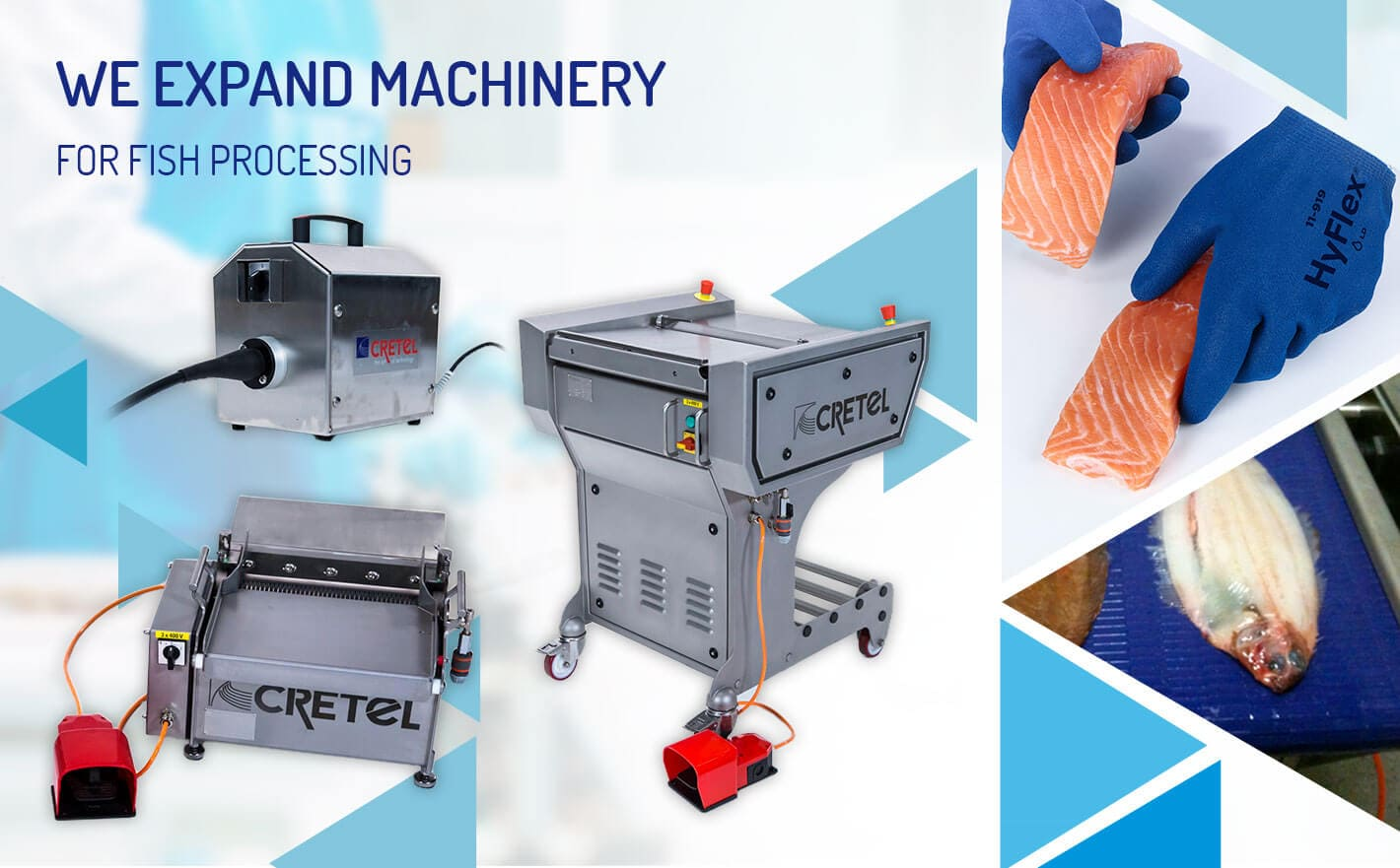 We expand machinery for fish processing