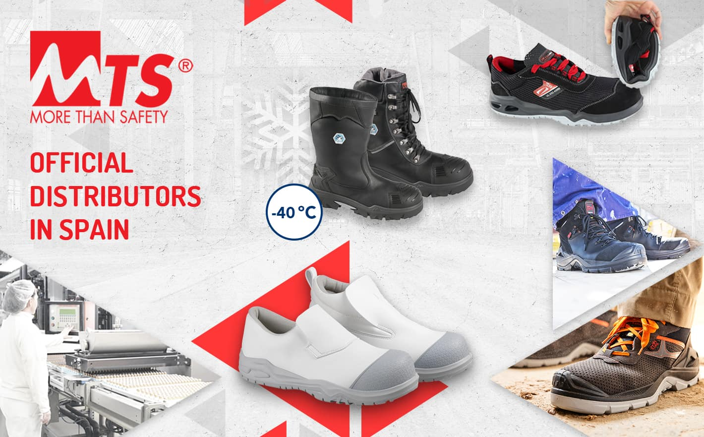 Official distributors of the MTS professional footwear brand in Spain | Reysan