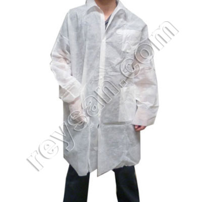 POLYPROPYLENE WORK COAT WITH CLIP