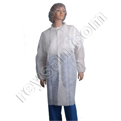 POLYPROPYLENE WORK COAT WITHOUT POCKETS