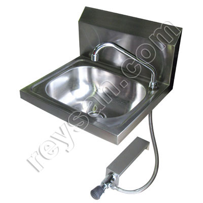 STAINLESS STEEL WASHBASIN WITH PUSH BUTTON