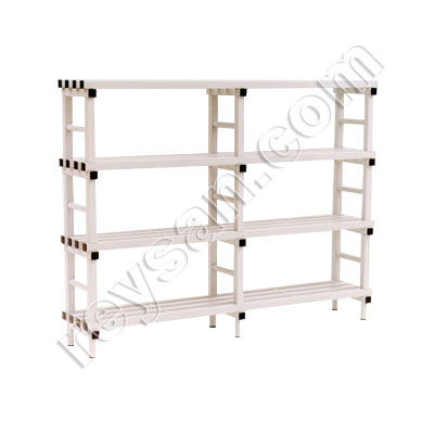 PVC RACK 4 SHELVES.HIGH
