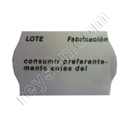 LABEL METO 26X16.