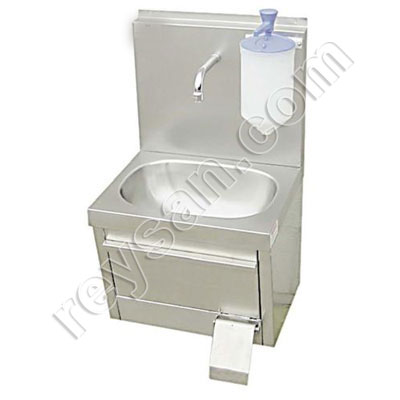 WALL MOUNTED WASHBASIN WITH DISPENSER.LV600