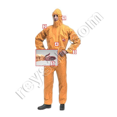 OVERALL TYVEK TYCHEM F ORANGE