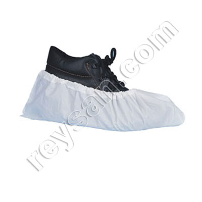 CPE SHOE COVER+ANTI-SLIP.WHITE. PAIR
