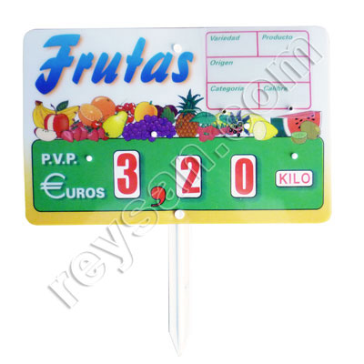 PRICE STAND 1 FRUIT 2037