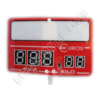 DIGITAL PRICE STAND RED EUR