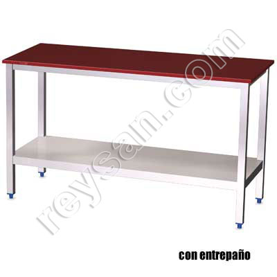 POLYETHYLENE TABLE RED