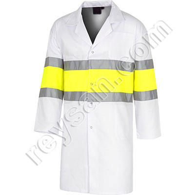 HIGH VISIBILITY WHITE COATS