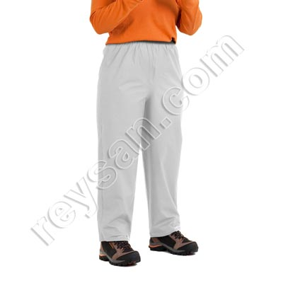 WHITE PU WATERPROOF TROUSERS