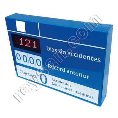DAYS WITHOUT ACCIDENTS LED SIGN