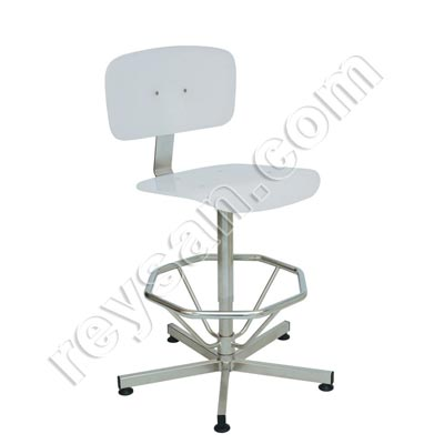 WHITE STAINLESS STEEL HIGH CHAIR