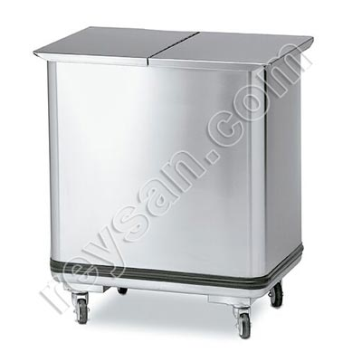STAINLESS STEEL CATERING TROLLEY FOR FOOD TRANSPORT