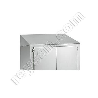 INCLINED PROTECTIVE ROOF FOR STAINLESS STEEL CABINETS