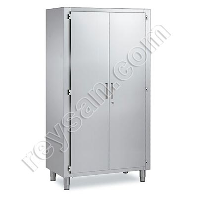 STAINLESS STEEL MULTI-PURPOSE CABINET WITH HINGED DOOR