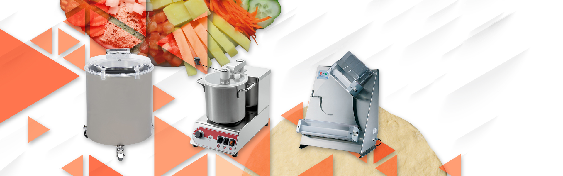 We expanded our section of catering machinery